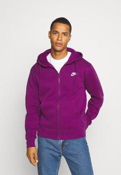 Nike Sportswear - CLUB HOODIE - veste en sweat zippée - viotech/viotech/white