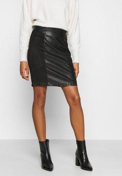 ONLY - ONLELISA MIX SKIRT - Mini skirt - black