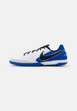 Nike Performance - TIEMPO LEGEND 8 ACADEMY IC - Fotbollsskor inomhusskor - white/black/hyper royal/metallic silver