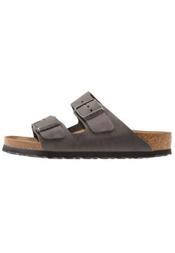 Birkenstock - ARIZONA SOFT FOOTBED - Pantolette flach - iron