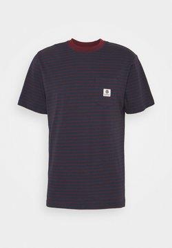 Element - BASIC STRIPES - T-shirt con stampa - eclipse navy