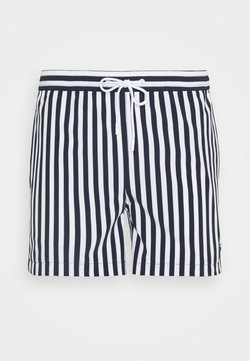 KnowledgeCotton Apparel - BAY STRETCH STRIPED SWIMSHORTS - Badeshorts - total eclipse