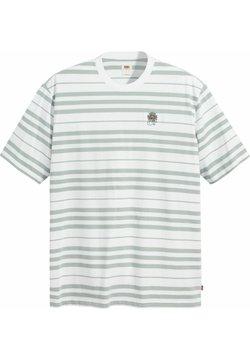 Levi's® - STAY LOOSE TEE - T-Shirt print - backyard stripe blue surf