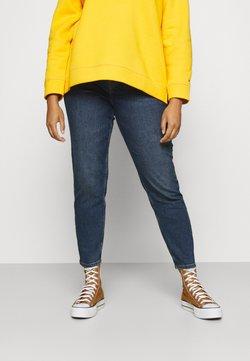 Pieces Curve - PCKESIA MOM - Straight leg jeans - dark blue denim