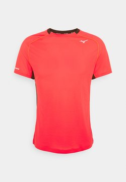 Mizuno - DRYAEROFLOW TEE - T-shirt imprimé - ignition red