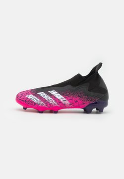 adidas Performance - PREDATOR FREAK .3 FG - Botas de fútbol con tacos - core black/footwear white/shock pink