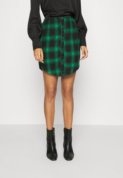 Missguided - BUTTON THROUGH SKIRT - Minihame - green