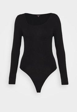 Missguided Tall - AYSMMETRIC NECK BODYSUIT - Body - black