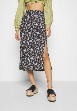 Even&Odd - Falda de tubo - black/multi-coloured