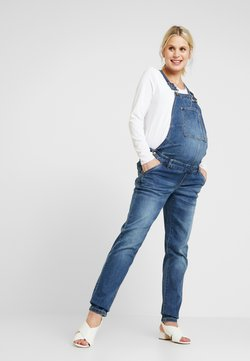 MAMALICIOUS - MLCELIA BOYFRIEND OVERALL - Salopette - medium blue denim