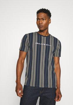 Kings Will Dream - ALVERTON STRIPE TEE - T-Shirt print - navy/grey