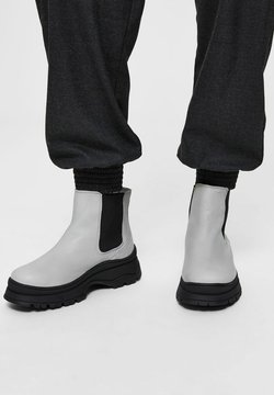 Selected Femme - Plateaustiefelette - light gray