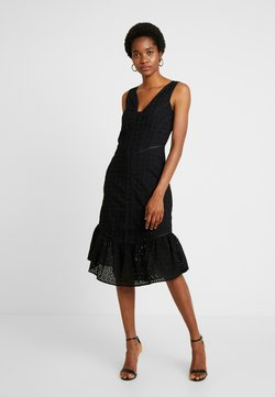 Lost Ink - COLUMN DRESS IN BRODERIE - Cocktail dress / Party dress - black