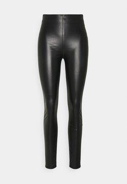 rag & bone - NINA FAUX PULL ON - Leggings - Trousers - black