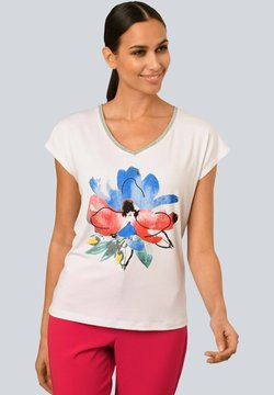 Alba Moda - T-Shirt print - weiß rot blau gelb