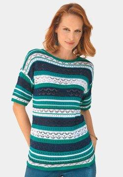ATELIER GS - T-Shirt print - lagune / geringelt