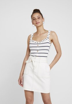 Dorothy Perkins - FRILL BUTTON THROUGH - Top - ivory