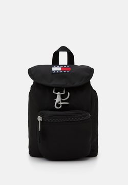 Tommy Jeans - HERITAGE SM BACKPACK - Reppu - black