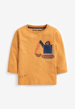 Next - DIGGER DINO POCKET  - Langarmshirt - yellow