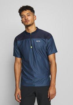 Gore Wear - ZIP TRIKOT - T-Shirt print - deep water blue/orbit blue