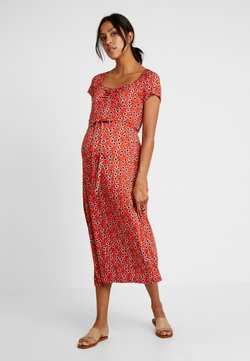 Dorothy Perkins Maternity - DITSY FLORAL MIDAXI - Jerseykleid - red