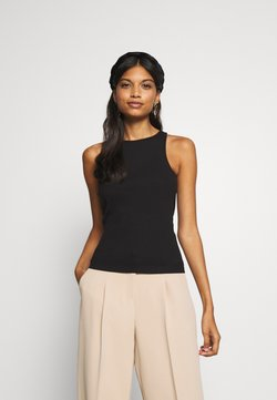 Zign - RACER NECK - Top - black