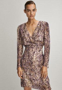 Massimo Dutti - MIT V-AUSSCHNITT - Sukienka letnia - dark purple