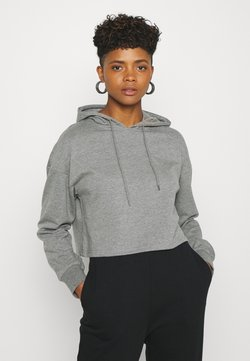 Even&Odd - BASIC - Cropped Hoodie - Kapuzenpullover - mottled grey