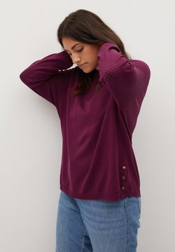 Violeta by Mango - SNAP - Pullover - wijnrood