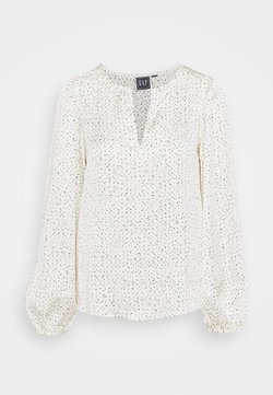 GAP - SPLIT BLOUSON - Bluse - white