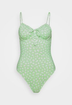 Cotton On Body - GATHER FRONT UNDERWIRE ONE PIECE CHEEKY - Badeanzug - mint