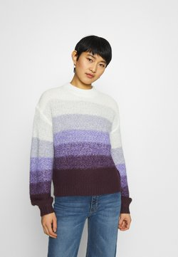 edc by Esprit - STRIPED - Strickpullover - lilac