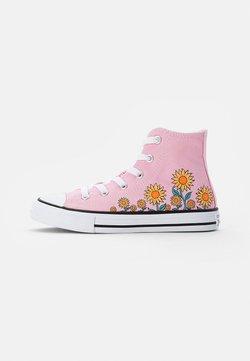 Converse - CHUCK TAYLOR ALL STAR SUNFLOWER - Korkeavartiset tennarit - pink/harbor teal/white