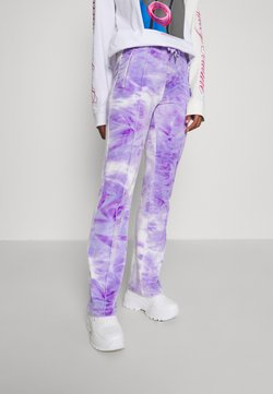 Juicy Couture - PRINTED TINA TRACK PANTS - Jogginghose - purple sea