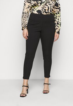 Selected Femme Curve - SLFLUE PINTUCK PANT - Broek - black