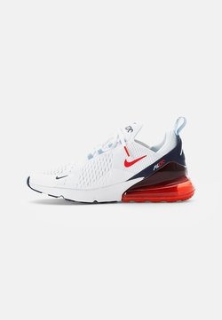 Nike Sportswear - AIR MAX - Baskets basses - white/chile red-midnight navy-psychic blue-challenge red-mtlc silver