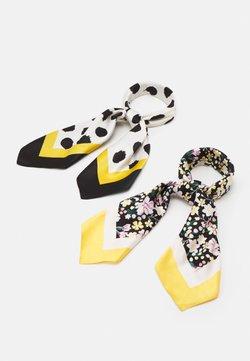 Even&Odd - 2 PACK - Écharpe - black/mustard yellow