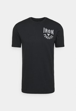 Under Armour - ROCK IRON PARADISE - Funktionsshirt - black