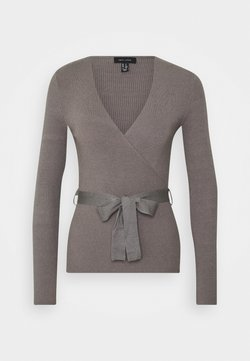 New Look - WRAP - Strickpullover - mid grey