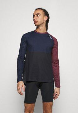 POC - PURE  - Langarmshirt - red/turmaline navy/uranium black