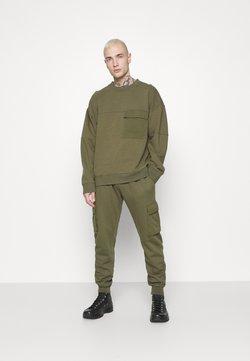 Topman - CREW - Sweatshirt - khaki