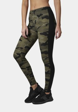 Urban Classics - Leggings - Hosen - woodcamo/blk