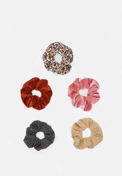 ONLY - ONLMILLE SCRUNCHIE 5 PACK - Haar-Styling-Accessoires - black/multi-colours