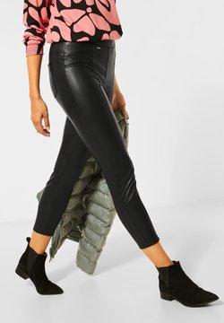 Street One - Pantalon en cuir - schwarz