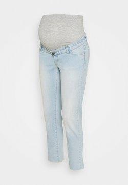 MAMALICIOUS - MLBELLE CROPPED - Jeans Straight Leg - blue denim