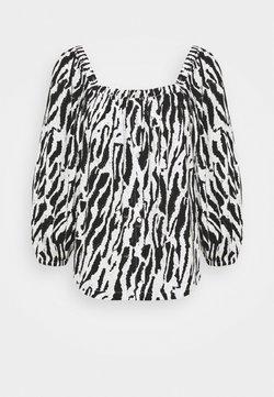 Bruuns Bazaar - BELL NARA BLOUSE - Bluse - black/white