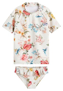 Next - ECRU FLORAL 2 PIECE SUNSAFE SET (3-16YRS) - Uimapuku - white