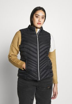 CAPSULE by Simply Be - LIGHTWEIGHT PADDED GILET - Waistcoat - black