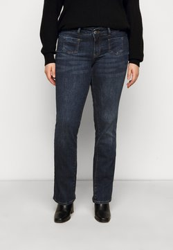 Vero Moda Curve - VMDINA - Flared Jeans - dark blue denim