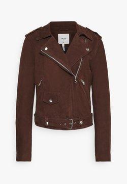 Object Tall - OBJNANDITA JACKET SEASONAL - Leather jacket - chicory coffee
